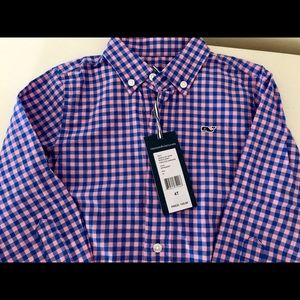 NWT- Vineyard Vines Gingham Oxford shirt